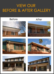 Guttering system before and after gallery