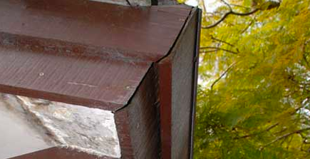 roof gutter rusts